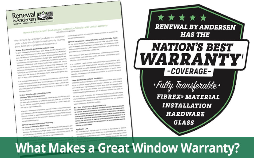 What to Look for in a Replacement Window Warranty